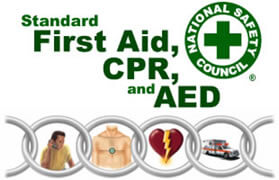 first aid, cpr, and aed